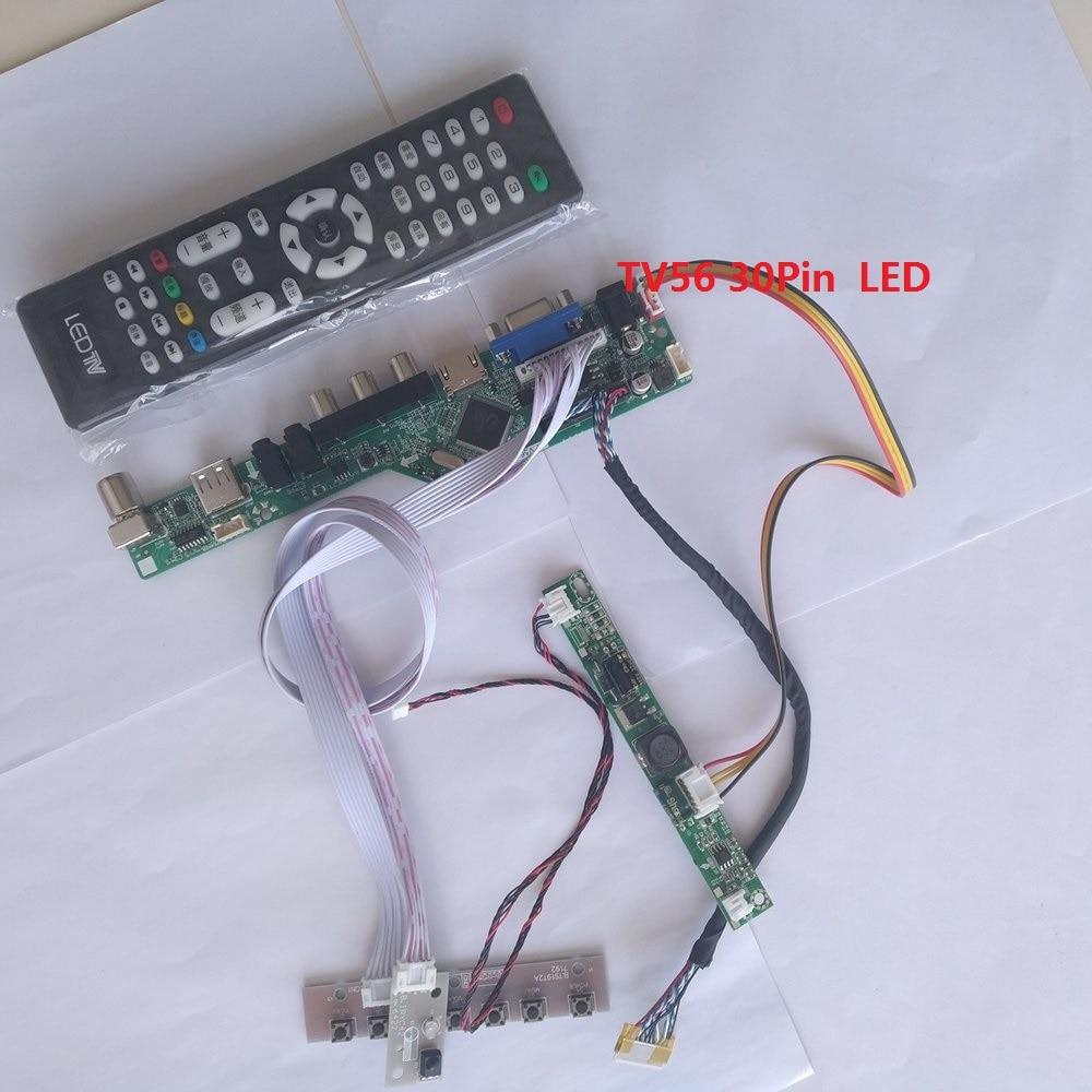 kit for HSD100IFW1 A04 Screen Panel USB TV AV LCD Controller board VGA HDMI DIY CVBS