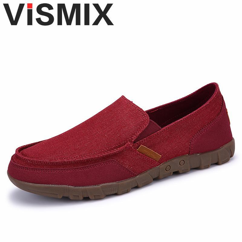 chaussure de confortable gris solide lumi re vismix mocassins mode hommes chaussures d 39 t rouge. Black Bedroom Furniture Sets. Home Design Ideas