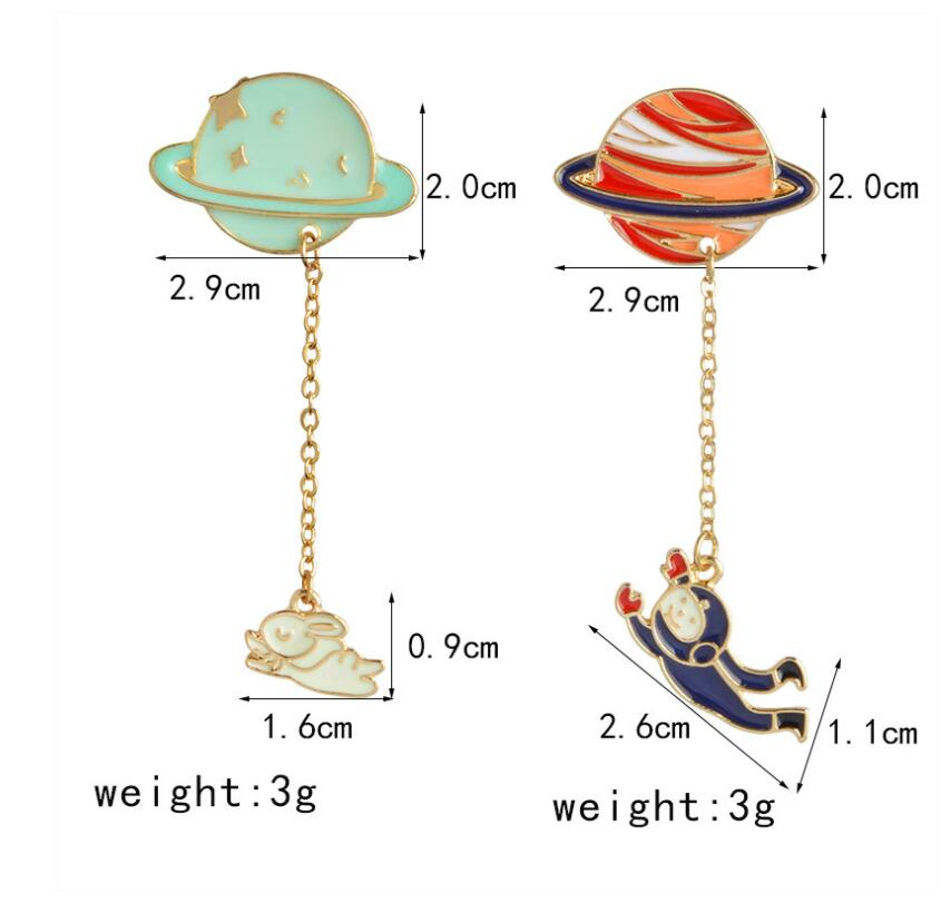 Fashion  satellite  pins and brooches for women Big broches jewelry fashion enamel  pin badge