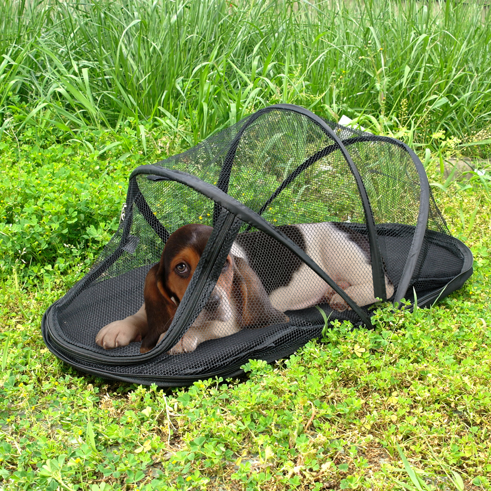 Mesh Portable Folding Dog House C&ing Tent Waterproof Dog Cat Fence Puppy Kennel Indoor Outdoor Exericise Play Dog Bed Black-in Houses Kennels u0026 Pens ...  sc 1 st  AliExpress.com & Mesh Portable Folding Dog House Camping Tent Waterproof Dog Cat ...