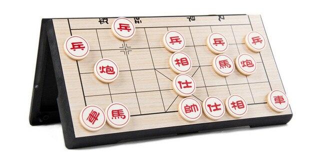 Xiangqi-jeu d'échecs chinois Portable, jeu magnétique pliable, 25x25x2cm, F227 2