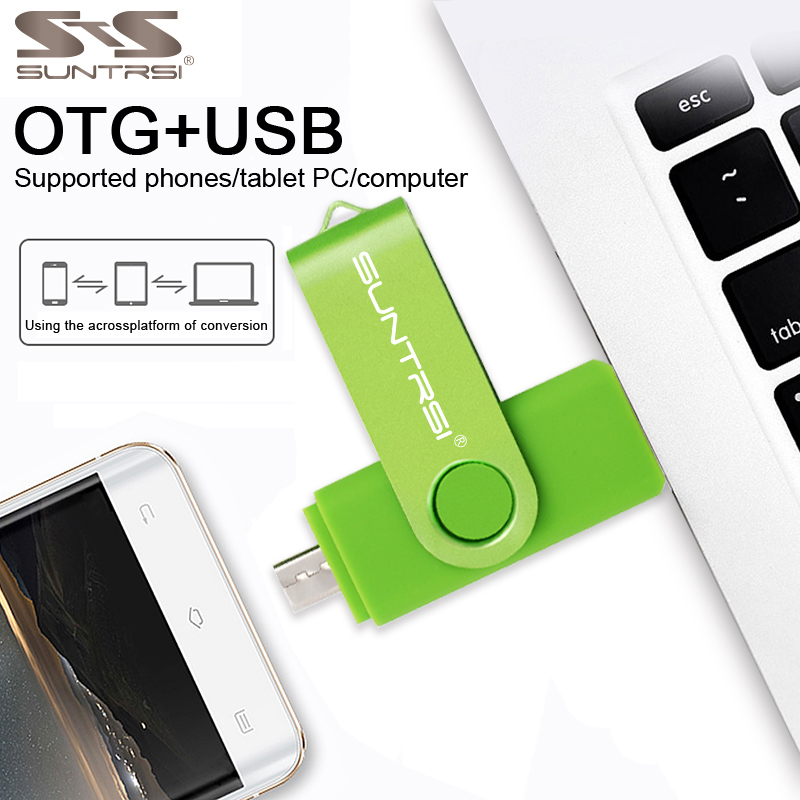 Suntrsi OTG Pen Drive 4gb 8gb for smart phone USB Flash Drive 16gb 32gb Pendrive USB Stick for pc Real Capacity 64gb Free Ship suntrsi usb 3 0 flash drive otg for android phone high speed memory stick pen drive 64gb 32gb 16gb 8gb usb flash drive metal