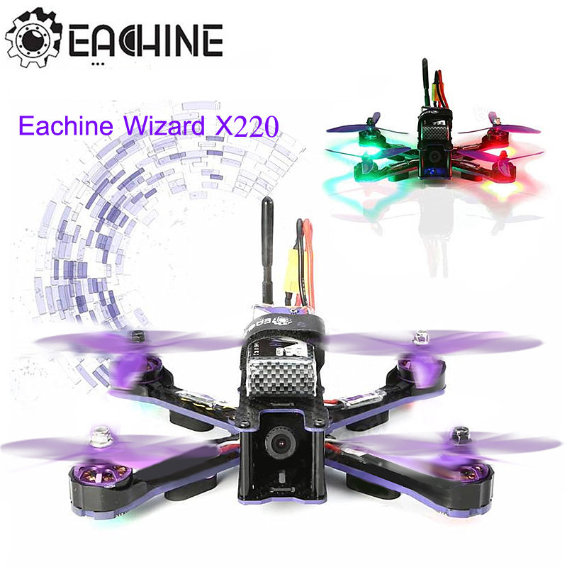 Eachine Wizard X220 FPV Racing Drone Blheli_S F3 6DOF 2205 2300KV Motors 5.8G 48CH 200MW VTX LED RC Quadcopter ARF VS X220S drone with camera rc plane qav 250 carbon frame f3 flight controller emax rs2205 2300kv motor fiber mini quadcopter
