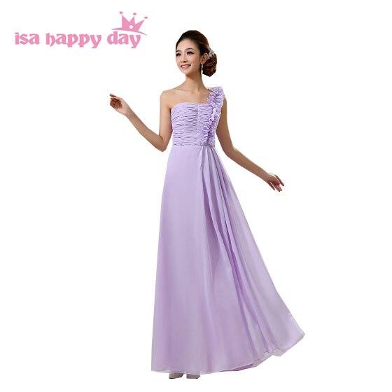special designer light purple elegant lavender party sexy occasion women long dress female hot sale one shoulder girls gown H007