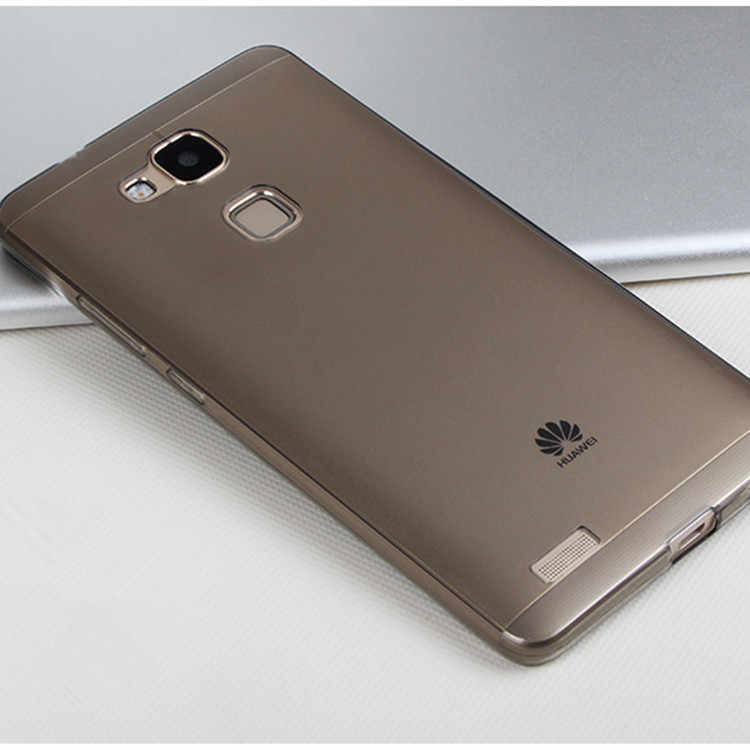 Per Huawei Mate 7 Caso Huawei Mate 7 Della Copertura di Vendita Calda Del Silicone di Mate7 Utra Sottile Sottile Trasparente Trasparente Invisibile copertura