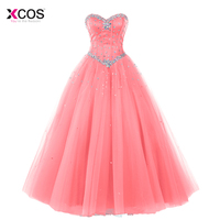 Pink Blue Ball Gown Quinceanera Dresses 2018 Beaded vestidos de 15 anos Sweet 16 Dresses Debutante Gowns Dress For 15 Years