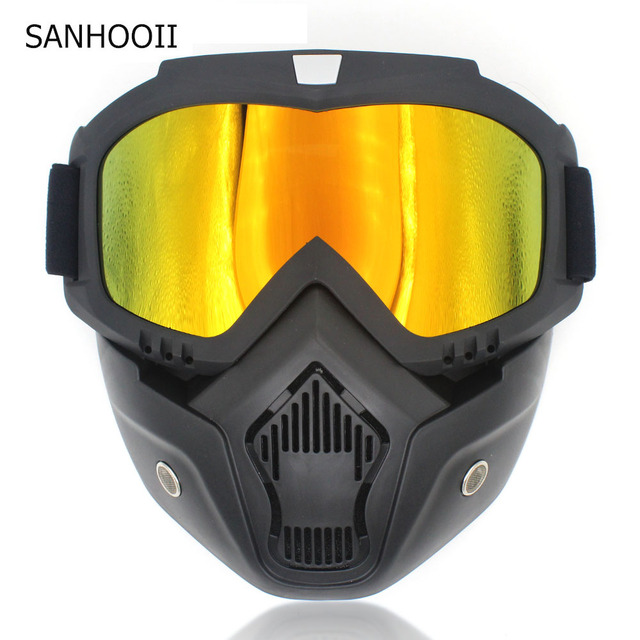 12ce3edc69 Universal Motorbike Modular Goggles Filter Mask Separable Motocross Vintage  Glasses PC lens For Motorcycle Open Face