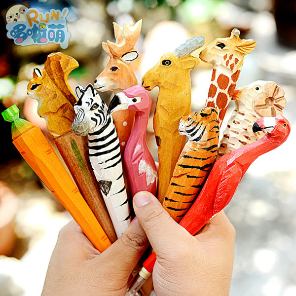 ballpoint Pen School Office supplies cute animal wood gel pens high quality kawaii birthday gift send children ballpoint pen school office supplies cute animal roller ball pens high quality kawaii birthday business gift send children 001