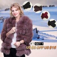 Теплый натуральный мех лисы пальто Для женщин короткие На зимнем меху куртка с натуральным лисьим мехом пальто для дам Bontjas Для женщин шубы
