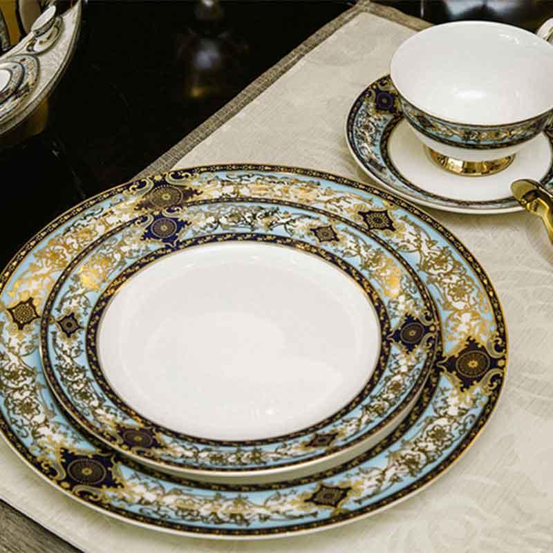 European Style Ceramic Dish Set Court Stylebone China Dinnerware Sets Hot Sale Ceramic Tableware Set Coffee Tea Cup And Saucer