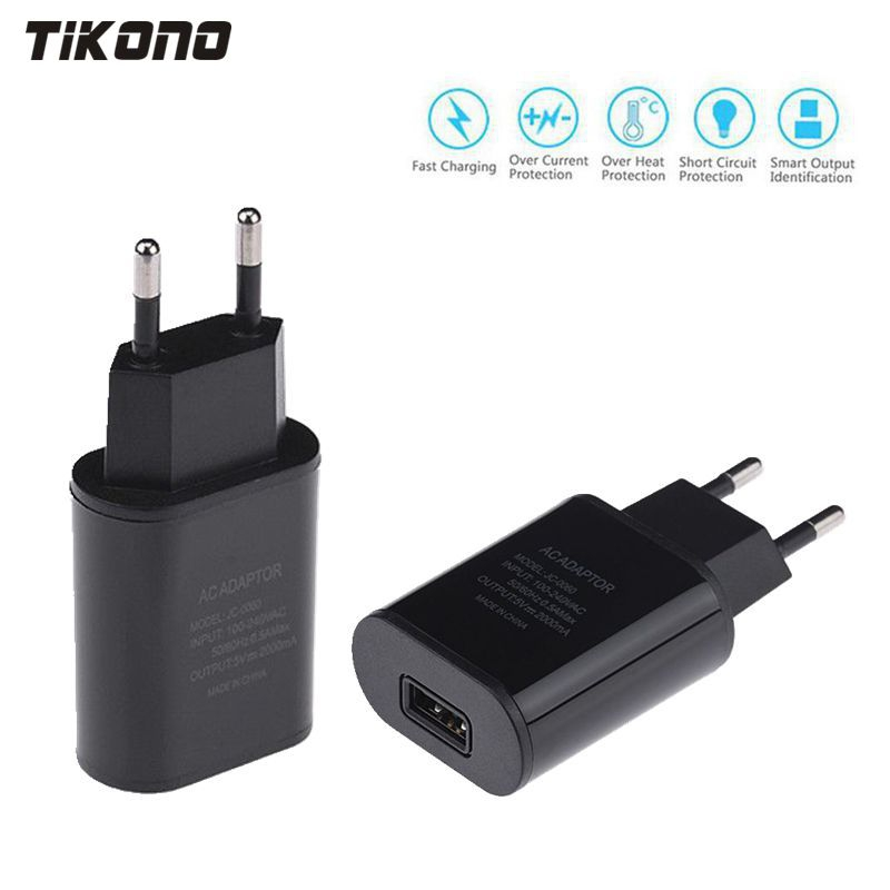 Špičková kvalita 5V 2A EU Plug USB Fast Charger Mobile Phone Wall Travel Power Adaptér pro iPhone 6 6s 7 Plus Samsung S7edge Xiaomi