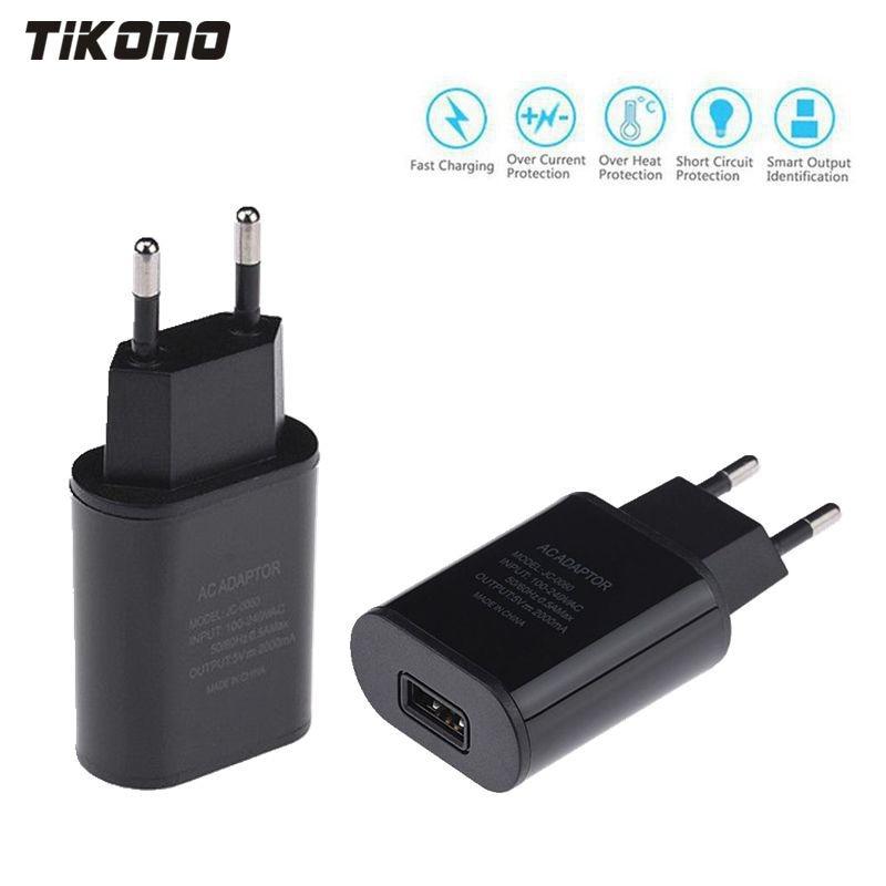 Высококачественное быстрое зарядное устройство USB с европейской вилкой, 5 В, 2 А, настенный адаптер питания для путешествий для iPhone 6, 6s, 7 Plus, ...