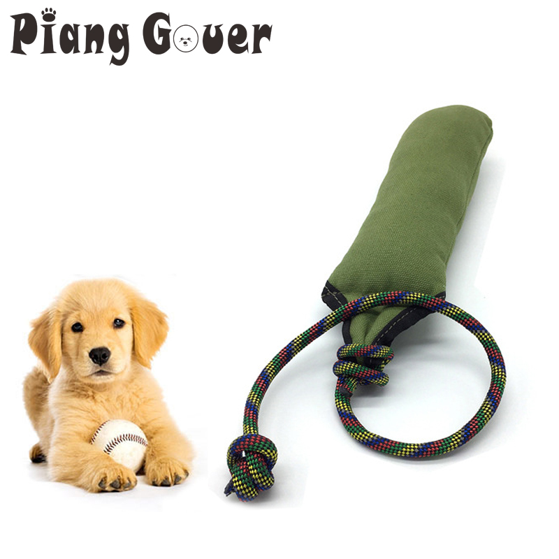 Dog Tug Toy Agility: Dog Training Bite Tugs Toy Chew Interactive Pet Tool For