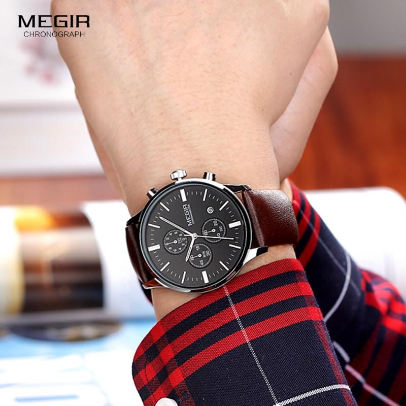 Megir quartz ρολόγια ανδρών φωτεινό - Ανδρικά ρολόγια - Φωτογραφία 4