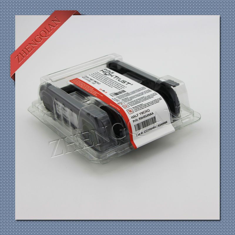 Evolis R5H004NAA color YMCKO half panel ribbon for the evolis Zenius card printers