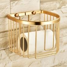 Золотая полка для ванной комнаты, держатель для бумаги, держатель для душа, настенное крепление, алюминиевая коробка для салфеток, держатель для шампуня, полки для туалета, etagere repisa