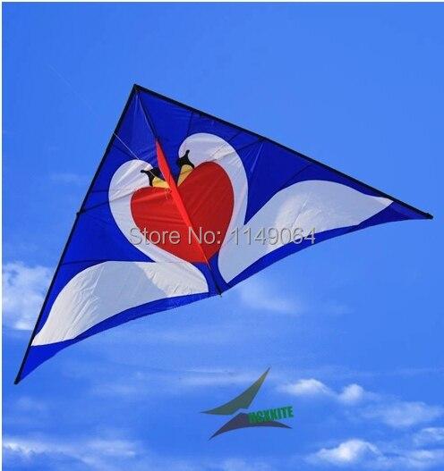 O envio gratuito de alta qualidade swan amor pipa com linha punho weifang kite flying hcxkite fábrica nylon ripstop tecido brinquedos ao ar livre