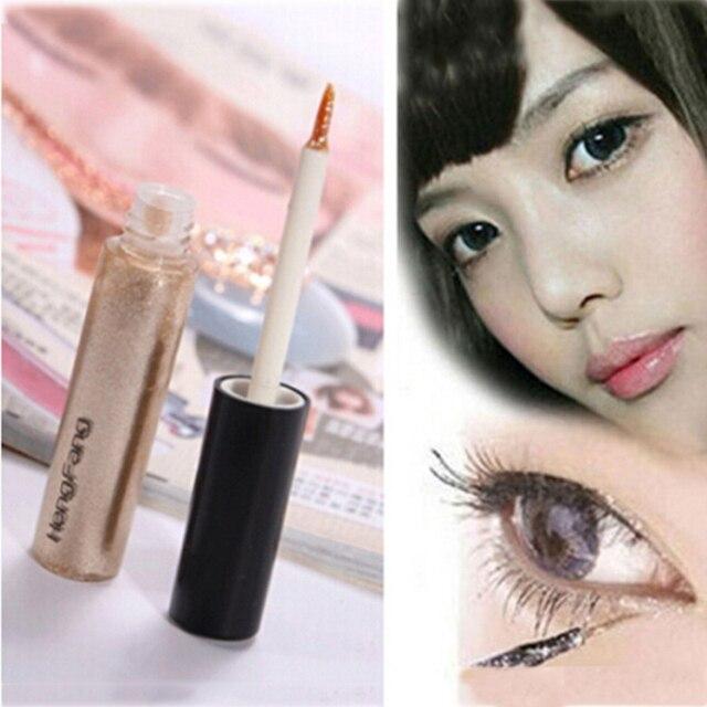 Colorido sombra de ojos pegatina 8 colores líquido sombra de ojos y delineador de ojos pluma brillo brillante cosméticos maquillaje de moda