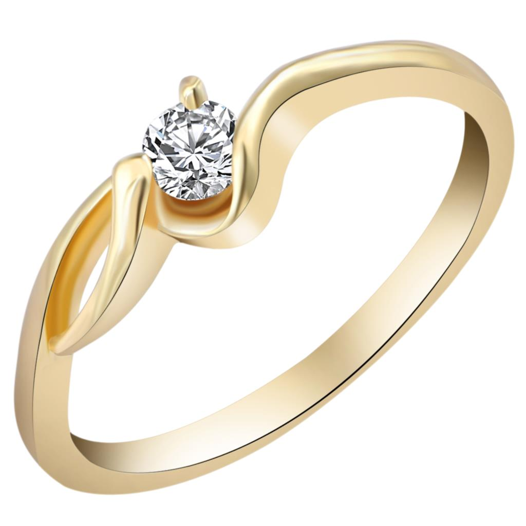 Luxury Brand Wedding Jewlery Gold Color with Unique Shaped Inlay Zirconia Cubic Ring for Women Engament Gift Size 5-8