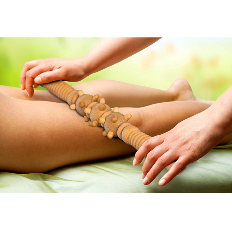 Roller-Stick Relaxing-Tool Fascia Self-Massage-Products Cellulite Wooden Body-Leg Spa title=