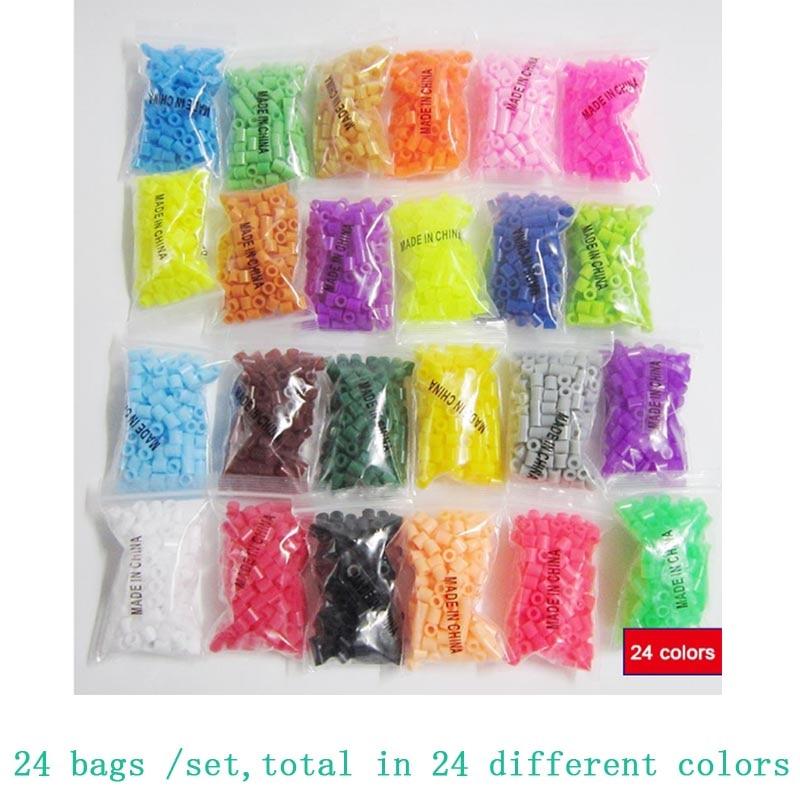 24 Colors A Set 2880pcs Perler Beads Ironing Hamma Beads 5mm Perler Beads Iron Fuse Beads Jigsaw Puzzle Diy Toy
