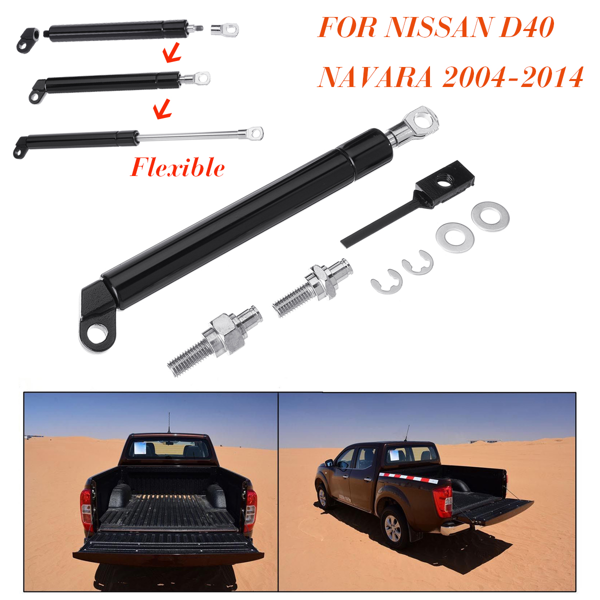 Para Nissan D40 Navara 2004-2014 portón trasero puerta trasera amortiguador de gas apoyo para maletero