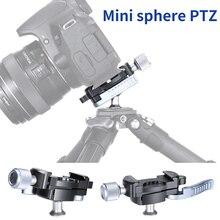 1/4 Screw Tripod Ballhead Adapter Mini Sphere PTZ Arca Swiss Quick Release Clamp Plate for Micro single DSLR Camera Slider