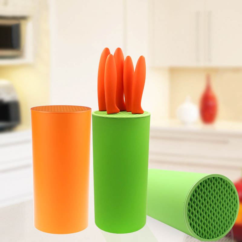 1 PC Resin Knife Stand  Kitchen Tool  Multifunctional Portable Cylindrical Can Knife Holder Knife Accessories