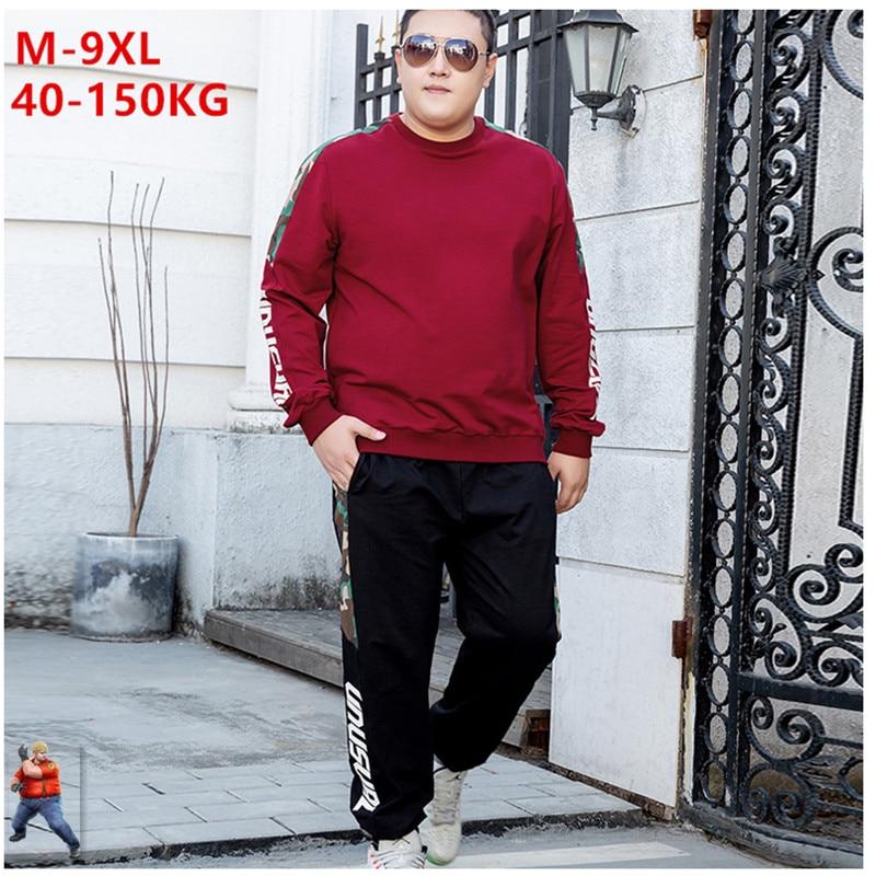 Men Track Suit Big Size 6XL Tracksuit Trainingspak Mannen Chandal Roupas 7XL 8XL Mens Clothing Streetwear Sweat Suits Tuta Uomo
