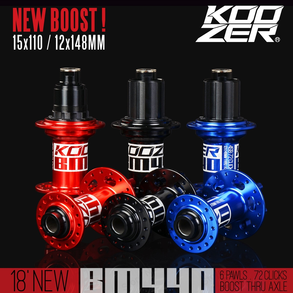 KOOZER BM440 MTB Mountain Bike BOOST Hubs 32h Hole Disc Bearing Hub Front Rear 6 Bolt 15*110 12*148mm Thru brand new quando hubs 32h front