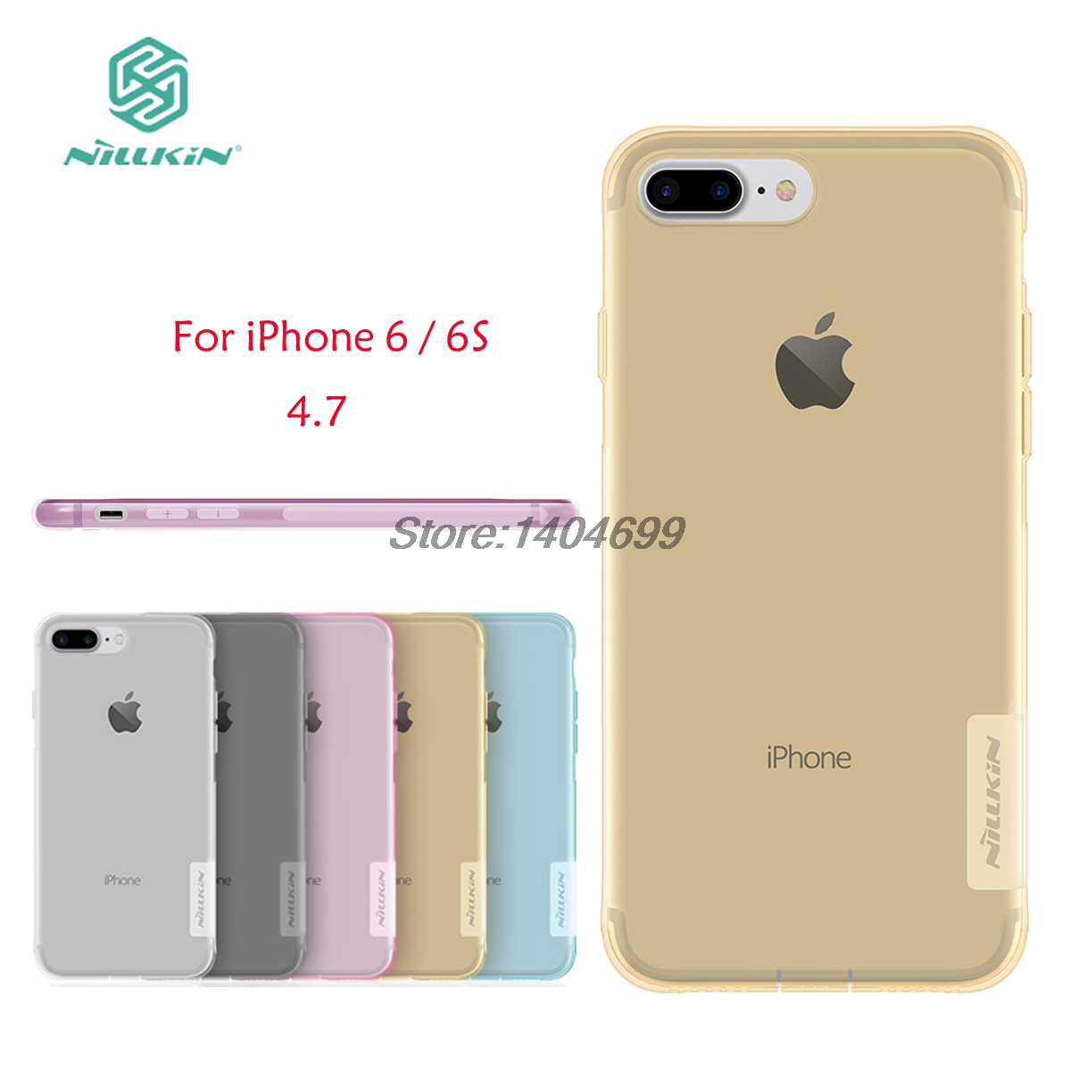 sFor iphone 6 Case Cover Nillkin Nature Series Soft Back Cover TPU Case For iphone 6S With packaging