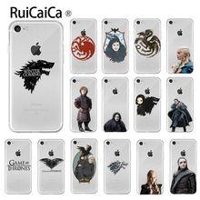 Ruicaica Game of Thrones Luxury Unique Design Phone Cover for Apple iPhone 8 7 6 6S Plus X XS MAX 5 5S SE XR Mobile Cases