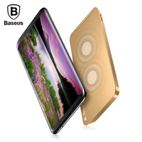 Baseus WiC1 Multifunctional Qi Wireless Charging Pad Dual Coil Charger With Desktop Holder For IPhone X