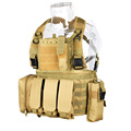 Tactical Vest 600D Oxford Cloth Fabric Multi Color  MOLLE System For Outdoor Use CL4-0025