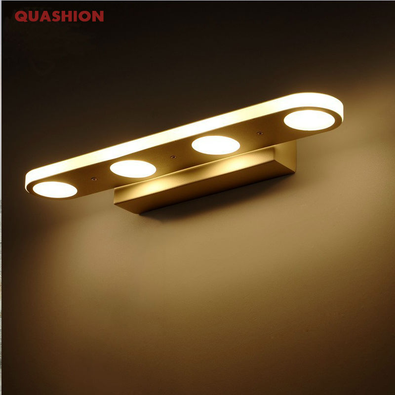 12W 18W Bathroom LED Mirror Light Waterproof 40CM 58CM AC220V 110V SMD5630 Cosmetic Acrylic Wall lamp Bathroom Lighting 40cm 12w acryl aluminum led wall lamp mirror light for bathroom aisle living room waterproof anti fog mirror lamps 2131