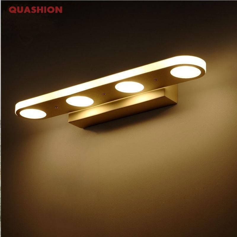 ФОТО 12W 18W Bathroom LED Mirror Light Waterproof 40CM 58CM AC220V 110V SMD5630 Cosmetic Acrylic Wall lamp Bathroom Lighting
