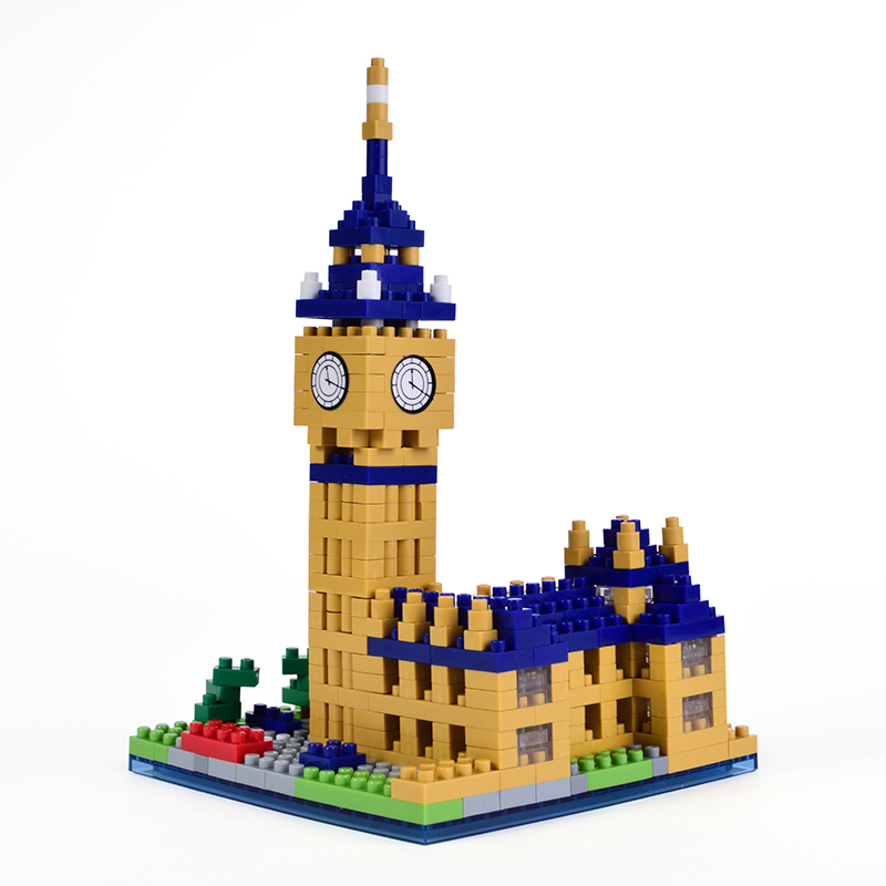 2017 new micro blocks big ben small bricks 477pcs building for Cost of building blocks in jamaica 2017