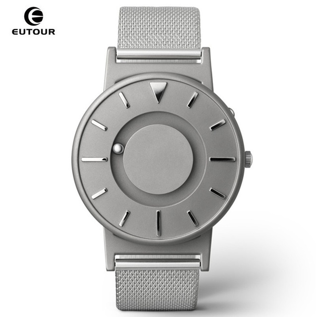 watches operated stainless blind blue people watch dial item battery expansion band for steel tactile