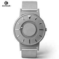 EUTOUR Men Watch Magnetic Ball Show Stainless Steel Men Watches For Blind Person Mens Wrist Watches