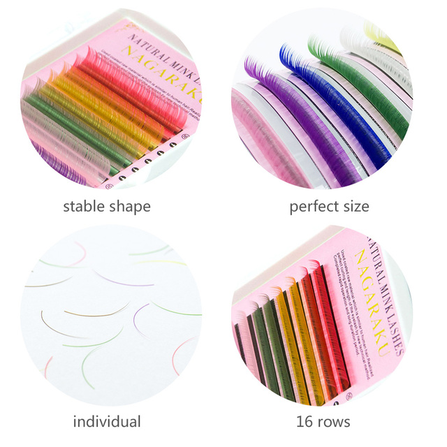 VeryYu Colorful 16 Rows Faux Mink Eyelash Eyes Care Personal Care  VeryYu the Best Online Store for Women Beauty and Wellness Products