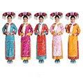 Женщины Китайский Династии Цин Костюм Femlae Китайская Принцесса Танца Костюм Вышитые Тан Cheongsam Dress Древняя Одежда 89