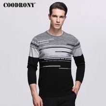 COODRONY סוודר גברים מותג בגדי Mens סוודרים עבור 2018 סתיו החורף מקרית O צוואר למשוך Homme קשמיר צמר סוודר גברים 229