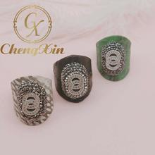 Exquisite 5 PC natural CZ ring, snakeskin pave the way to set crystal jewelry finger gem ring