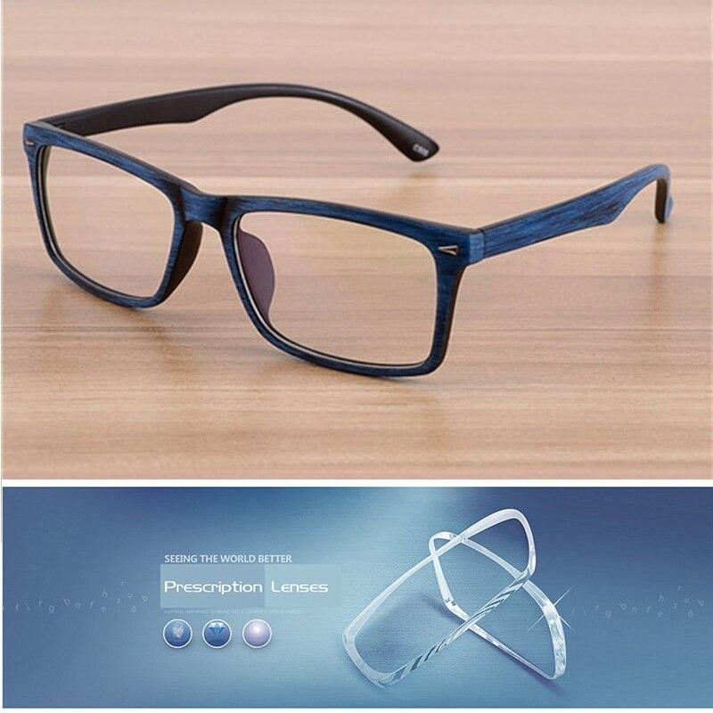 1b22fbfbc Vazrobe Óculos de Madeira Do Vintage Mens personalizar Lente Óptica  Prescrição Masculinos 1.56 1.61 1.67 índice photochromic UV400 computador