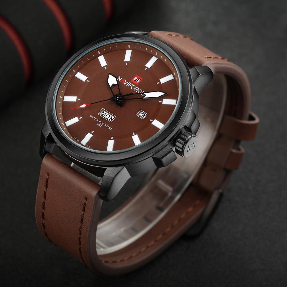 Wrist watches brands for mens - Naviforce Men S Quartz Watches Luminous Analog Date Clock Man Army Military Wrist Watch Luxury Brand Men
