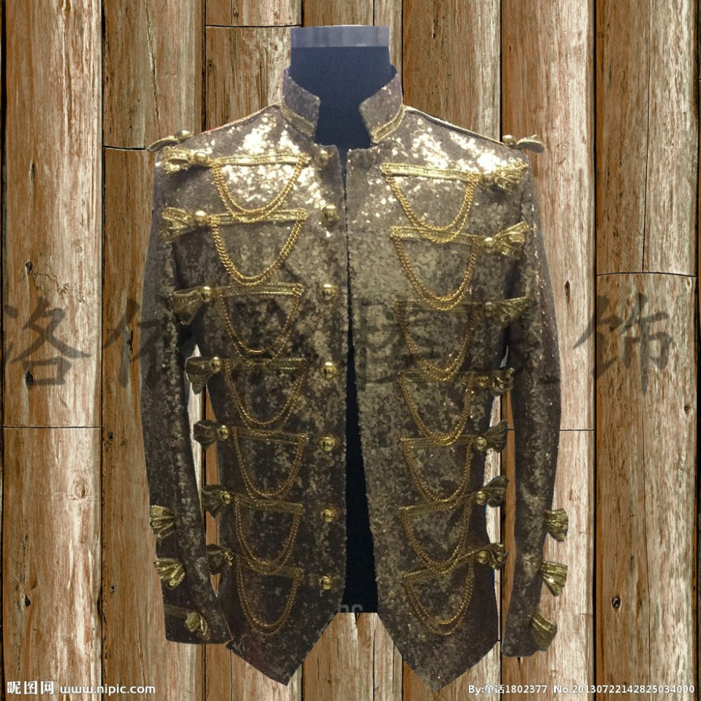 Blazers S-5xl 2017 New Mens Clothing Fashion Slim Bigbang Dj Hair Stylist Studio Sequins Suit Dress Plus Size Stage Singer Costumes