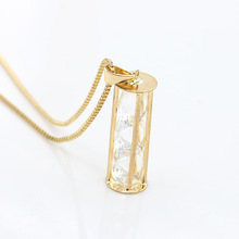Korean version of the new sweater chain fashion three zircon zircon necklace multi Circle Necklace Z3134