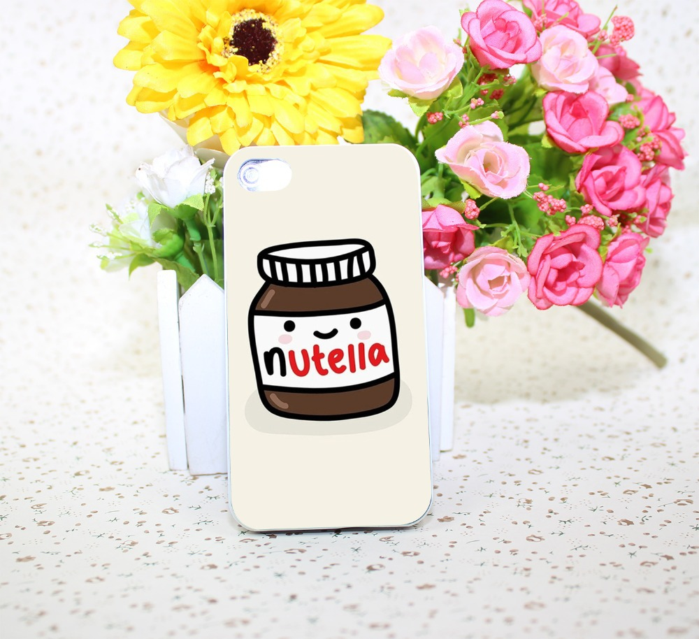 nutella White Hard Case Cover for iPhone 4 4s 5 6 1pc