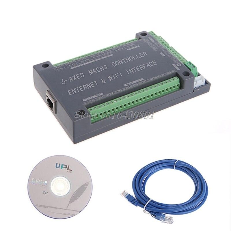 Pour MACH3 Ethernet Interface NVUM 6 axes CNC contrôleur 200 KHz carte carte pour moteur pas à pas G08 livraison directe