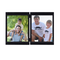 Chic Black 2pcs Photo Frame Decoration Home Art Wall DIY Photo Frames For Picture Wedding Gfit